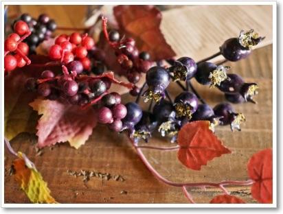 秋のスワッグ作り