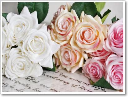 白で花を引き立てる